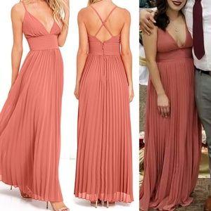 Lulus DEPTHS OF MY LOVE TERRA COTTA MAXI DRESS